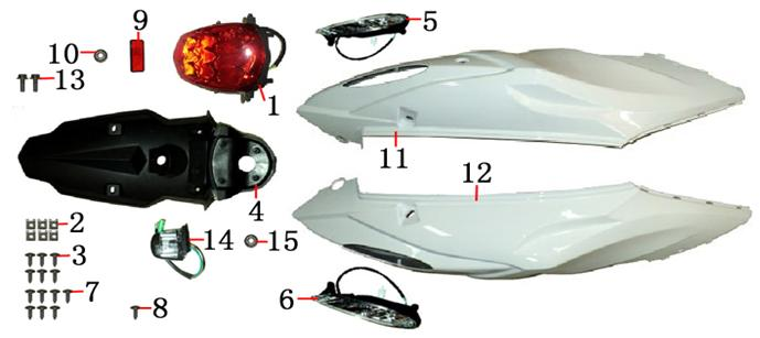 F07 RR Covers Taillight