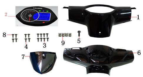 F01 Handlebar Covers Speedometer