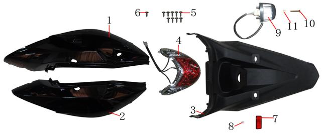 F06 RR Covers Taillight
