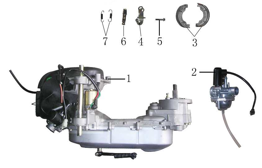 F26 Engine Carburetor Rear Brake