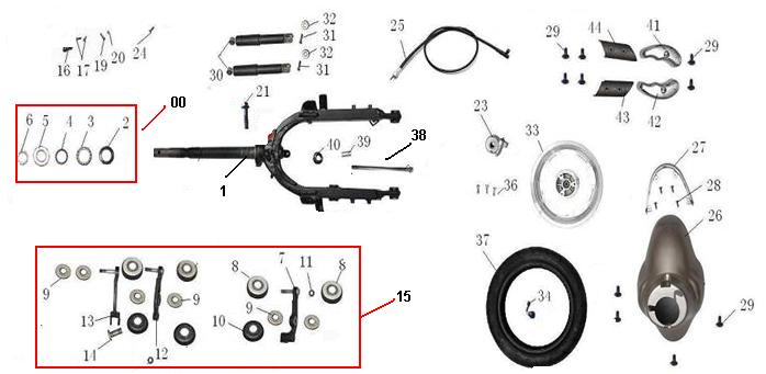 F02 Front Fork Brake Wheel Fende