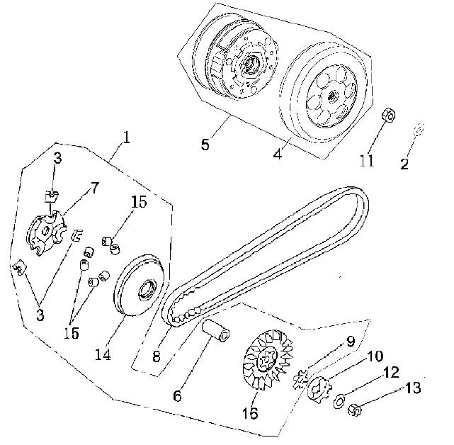 E11 Variator and Clutch