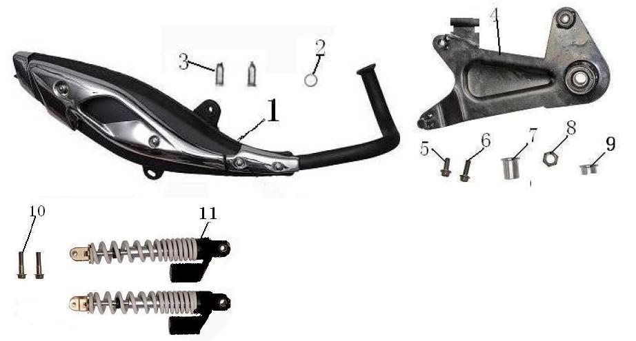 F06 Exhaust Swing Arm Rear Cushi