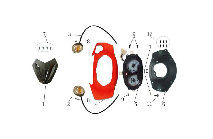 F01 Handle Covers Speedometer Fr