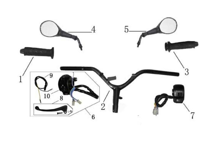 F09 Handlebar Switches Mirrors