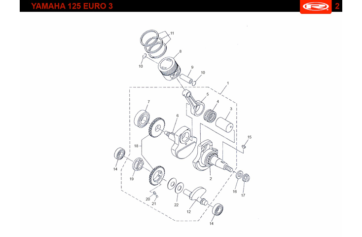E13 EURO 3 Crankshaft and Piston
