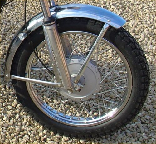 MUDGUARD, FRONT WITH STAYS, CHROME