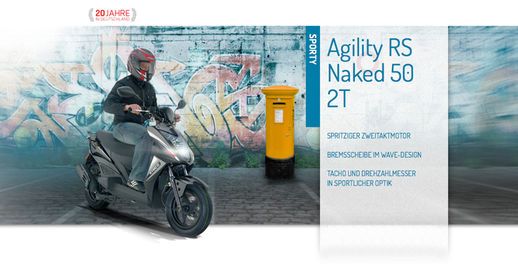 Agility RS Naked 50 2T
