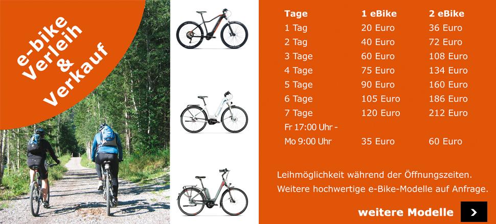 Shop Trenoli ebikes Verleih und Verkauf HSI Custom Bikes City Trekking Compact Mountain Transport